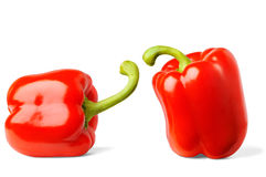 Duas pimentas de sino Imagem de Stock
