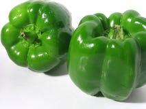 Duas pimentas verdes Foto de Stock Royalty Free