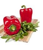 Duas pimentas vermelhas Fotografia de Stock Royalty Free
