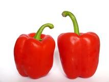 Duas pimentas vermelhas Foto de Stock Royalty Free