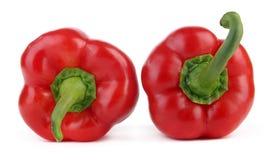 Duas pimentas vermelhas - acima e para baixo Imagem de Stock