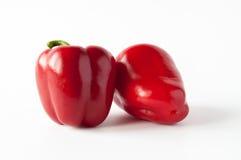 Duas pimentas vermelhas doces Foto de Stock Royalty Free