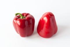 Duas pimentas vermelhas doces Imagem de Stock