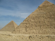 Duas pirâmides foto de stock royalty free