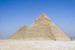 Duas pirâmides Fotografia de Stock Royalty Free