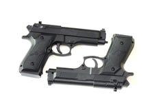Duas pistolas Fotografia de Stock