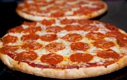 Duas pizzas Fotos de Stock Royalty Free