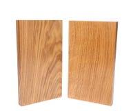 Duas placas verticais (acácia, carvalho) Foto de Stock Royalty Free