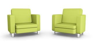 Duas poltronas verdes ilustração royalty free