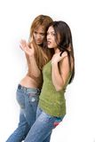Duas raparigas imagens de stock royalty free