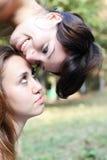 Duas raparigas ao ar livre imagens de stock royalty free