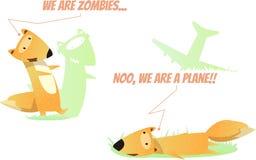 Duas raposas do divertimento ilustração royalty free
