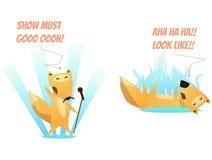 Duas raposas do divertimento ilustração do vetor