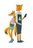 Duas raposas vermelhas Imagens de Stock Royalty Free