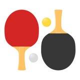 Duas raquetes para jogar o tênis de mesa ou o tênis de mesa ilustração do vetor