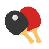 Duas raquetes para jogar o tênis de mesa ou o tênis de mesa ilustração royalty free