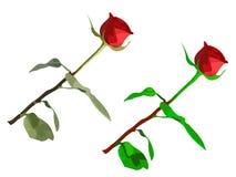 Duas rosas vermelhas Imagem de Stock Royalty Free