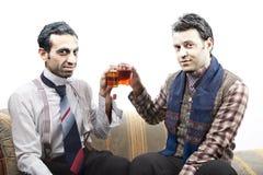 Brinde do chá dos séniores do presunçoso imagens de stock royalty free