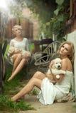 Duas senhoras da beleza imagem de stock royalty free