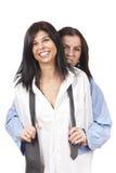 Duas senhoras engraçadas Imagens de Stock Royalty Free