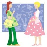 Duas senhoras grávidas ilustração do vetor