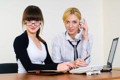 Duas senhoras seguras do negócio Imagem de Stock