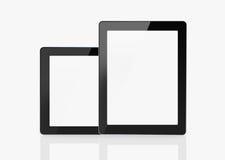 Duas tabuletas isoladas no fundo branco Imagens de Stock