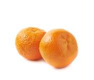 Duas tangerinas isoladas Imagem de Stock