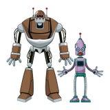Duas tecnologias futuristas do robô ilustração do vetor