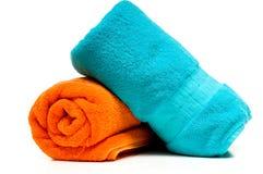 Duas toalhas de banho Fotografia de Stock