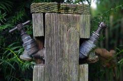 Duas torneiras de água Imagem de Stock