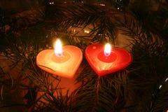 Duas velas 06 Imagem de Stock