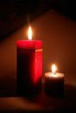 Duas velas Imagens de Stock