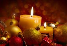 Duas velas Fotografia de Stock