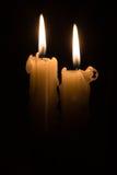 Duas velas Imagem de Stock Royalty Free