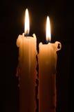 Duas velas Foto de Stock Royalty Free