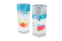 Duas velas de vidro Fotos de Stock