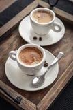 Duas xícaras de café Fotografia de Stock