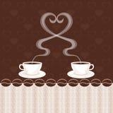 Duas xícaras de café Imagem de Stock Royalty Free