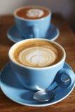 Duas xícaras de café Fotos de Stock Royalty Free