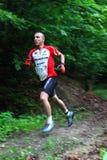 Duathlon -跑的阶段 库存照片