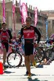 duathlon biegacze Obrazy Royalty Free