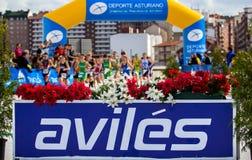 Duathlon championship Stock Image