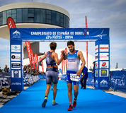 Duathlon championship Stock Photography