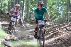 Duathlon - perseguição da bicicleta Fotos de Stock Royalty Free