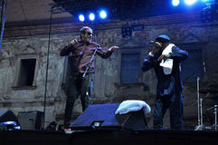 Dub Pistols performs live on the stage Stock Photography