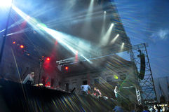 Dub Pistols performs live on the stage Royalty Free Stock Image
