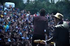 Dub Pistols performs live on the stage Royalty Free Stock Images