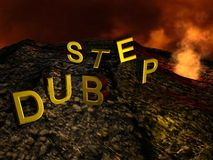 Dub Step Volcano Royalty Free Stock Image