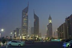 Dubaï à la soirée Photographie stock libre de droits